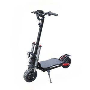 Electric Scooter 60V 3200W Powerful Escooter 11inch Off Road Dual Motor Electric Skateboard Foldable Adults Scooters with Seat
