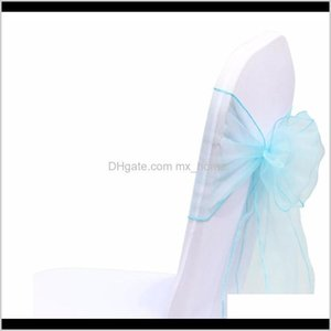 1Pcs 18X275Cm Organza Sashes Bow Tie Band Knot Chair Cover Tulle For Wedding Banquet Christmas Event Party Decoration F Wmtzwr Mztmw Bncqt