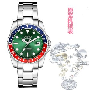 ساعات المعصم Kasch Mechanical Power Watch Green Water Ghost Watch7NHB