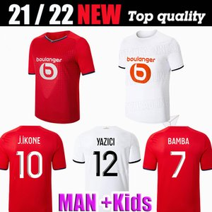 Losk Lille 2021 2022 Fussball Trikots Burak David Fonte Bamba Yazici Football Hemd 21 22 Lille Olympique Jikone 10 MAILLOT Erwachsene Kinder Kit Hommes Enfants