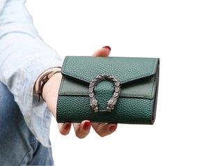 디자이너 지갑 6 색 지갑 여성 짧은 레트로 접기 변경 지갑 레드 블랙 순수 색상 미니 여자 고전 가방 공장 가격 도매 A24