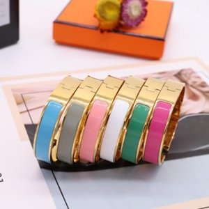 luxury White Bangle women stainless steel couple bracelet fashion jewelry Valentine Day gift for girlfriend accessories wholesale