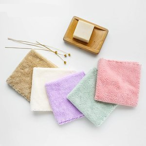 Towels & Robes 5pcs Children Baby Handerchief Square Fleece Born Face Hand Bathing 30*30cm Care Washing Productions