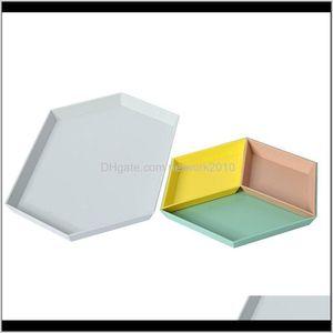 4Pcs Nordic Polygon Jewelry Display Plate Desktop Combination Tray Geometric Diamond Hexagonal Cake Fruit Dish Plates Uaojl Bulk Food N4Poz