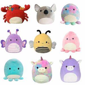 Squishmallow Kawaii Big Squish Animal Unicorn Piggy Dinosaur Cat Octopus Soft Stuffed Plush Doll Pillow Chair Cushion Kids Toys
