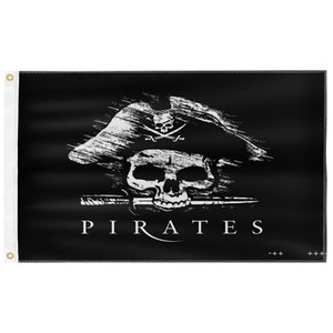 Davy Jones Pirate 3X5FT Black Flags Outdoor 150x90cm Banners 100D Polyester High Quality Vivid Color Two Brass Grommets FWD10506