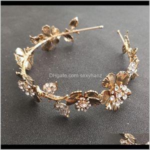 Clips barrettes bijoux livraison livraison 2021 alliage de zinc slbridal style baroque doré couleur mariée diadème bride bride brassard mariage cr