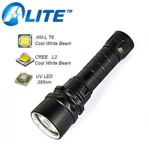 TMWT Kompakt ve Güçlü Sualtı Fener XML-T6 Cree Beyaz UV Kırmızı veya Sarı Işık ile LED Dalış Torch