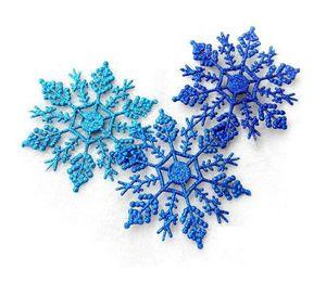 Christmas Ornaments Snowflake Colorful Glitter 4