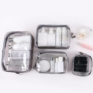 Transparent PVC Cosmetic Bags Waterproof Wash Organizer Storage Women Clear Make Up Case Bag Beauty Toiletry Pouch & Cases