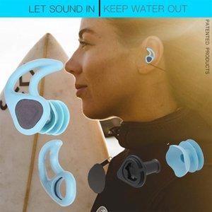 코 클립 2021 혁신 디자인 수영 귀 플러그 부드러운 실리콘 사운드 침투 방수 방진 이어폰 다이빙 물 서핑 수영