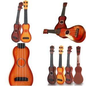 plastic Ukulele Beginner Children Gift Hawaiian Instrument String Guitar 35cm*9cm*3cm random color