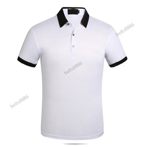 2021 Business Casual Polo Shirt Tshirt Hombres Stripe Stripe Slyly Society Moda Hombre Comprobado Cinco Color Chooes
