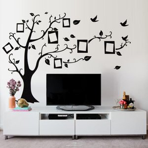 Po Frames Tree Birds Wall Stickers For TV Background Living Room Bedroom Home Decoration Diy Pvc Decal Mural Art