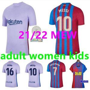 2021 2022 Messi Barcelona Fussball Jerseys FC 21 22 Barca Ansu Fati Griezmann F.de Jong Kun Aguero Countinho Dest Jersey Kit Hemd Männer Frauen Kinder