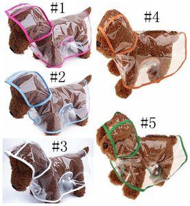 Brand Dog Apparel Raincoat Transparent Small Dogs Rain Coat Waterproof Puppy Raincoats Rainwear Summer Pet Clothes Supplies 3 Designs