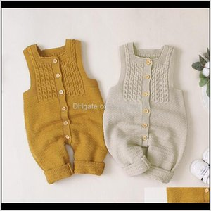 Jumpsuits Jumpsuits&Rompers Clothing Baby, Kids & Maternity Drop Delivery 2021 Born Ruffle Knitted Wool Romper Infant Jumpsuit Playsuit Pajam
