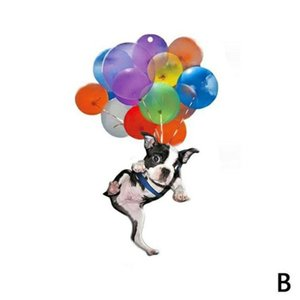 Novelty Items Dog Hanging Ornament With Colorful Balloon Car Interior Decor Lightweight Flying