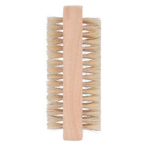 Деревянные щетки для ногтей Двусторонние натуральные Бристыри деревянные маникюр двойной поверхности ручной очистки щетки RH1537