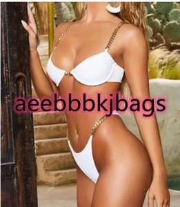 Design big ladies girl chain printed hard bag high waist women's split bikini print sexy one piece yakuda flexible stylish Bikinis sets