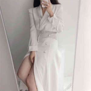 Hzirip Windbreaker Minimalista Office Lady Outwear 2020 Elegant Hot Solid Slim Nuevo Alta Calidad All Match Long Trench Abrigos