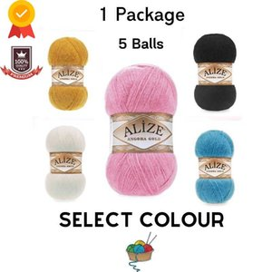 Yarn Thread 1 Pack |5 Balls| Alize Angora Gold Knitting |1 Ball: 100 Gram   550 Meter| Crochet Tool Kit Sewing Tools Softi