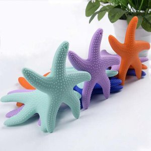 Silicone Starfish Baby Molar Rod Chilld Chew Toys Bright Starts Teether Beads Kid's Molar Teeth Stick Safe Healthy Comforter Toys
