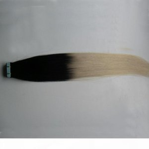 Tape In Human Hair Extensions Ombre Color 2.5g Per Piece 40 pieces 100% Real Remy Straight Invisible Skin Weft PU Tape On Hair Extensions