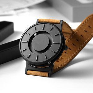 Magnetic Watch Ball Show Men Waterproof Luxury Mens Wristwatches Sport Stainless Steel Drop Quartz Wrist