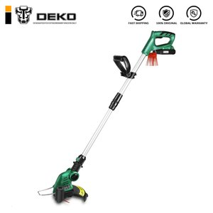 DEKO DKGT06 20V Lithium 2000mAh Cordless Grass Trimmer with Battery Pack and Blade Pendants Adjustable Length Angle T200115