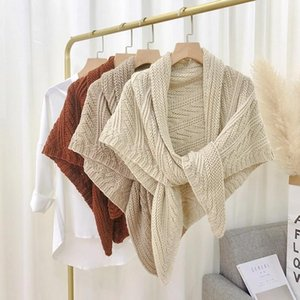Wraps & Jackets Wedding Solid Colors Cashmere Knitting Shawl Winter Late Autumn Warm Thickened For Elegant Accessories