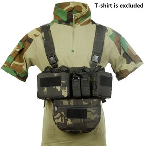 Match CS Wargame TCM Chest Rig Airsoft Tactical Vest Pack Magazine Pouch Holster Molle System Waist Men Nylon
