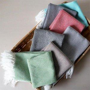 Table Napkin 4Pcs Set Cotton Dish Cloth Kitchen Dishcloth Cleaning Towel Waffle Tea Towels With Tassels 40x60cm