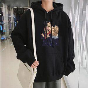 Sudaderas con capucha para hombre Sudaderas Harajuku Anime Jujutsu Kaisen Todo AOI e Itatori Yuji Hip Hop Streetwear Moda Unisex de gran tamaño