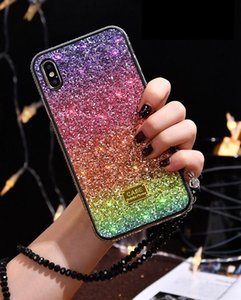 2021 Gradient Glitter diamond Case For iPhone 12 11 Pro Max xs XR TPU+ PC Bling New Luxury fashion Cover i6 7 8 Plus