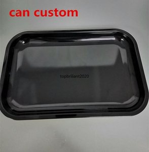 DIY sublimation rolling tray metal rolling tobacco tray metal unique tray tobacco smoke accessory black fast shipping can custom FY4396