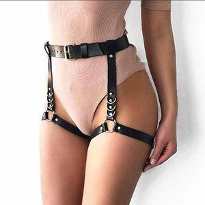 Belts European And American Original Dark Punk Wild Trend Binding Belt Leg Ring One Ballroom Performance Accessories