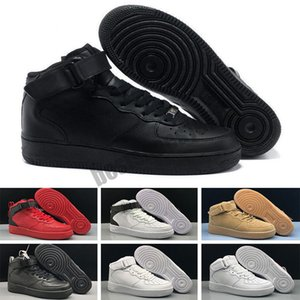 Force 1 AF1 خصم الرجال أحذية لوح التزلج واحد متماسكة اليورو نساء أبيض كل الأبيض الأسود مدرب أحمر مصمم عداء الرياضة