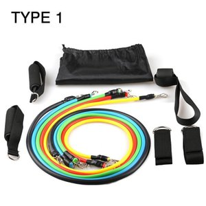 Resistance Bands Latex 11 In 1 Sports Fitness Yoga Pilates Trainning Tube Pull Rope Resistance Bands jlleyG