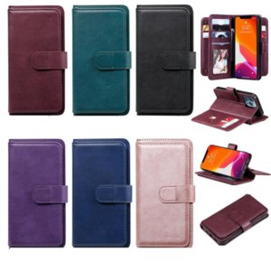 Multifunctional Leather Wallet Cases For Iphone 13 Pro Max Mini 2021 12 11 XR XS X 8 7 6 Plus Iphone13 10 Card Slots Holder Flip Cover Business Men Girls Magnetic Pouch