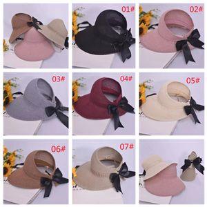 Sombreros de ala nominal stingy sombrero de la arco de las mujeres del verano, el estilo de turismo de ocio al aire libre es la preferencia de las niñas