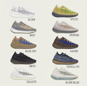 2021 Authentic 380 Alien Outdoor Schuhe Nebel Reflektierende Kalkit Pfeffer Blau Hafer Hylte Glow Azure Onyx Yecoraite Lmnte Männer Frauen Kanye West Sports Turnschuhe mit Box