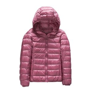 Women's Jacket Winter Hooded Warm Coat Plus Size Candy Color Duck Fur Padded Jackets Female Short Parka