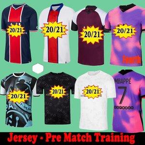 PSG Paris saint germain Pre-Match Training kit suit 20 21 Maillot de football 2020 2021  MBAPPE ICARDI camisetas de futbol Neymar chemise hommes JR enfants ensembles