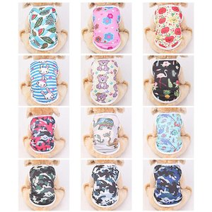 Dog Apparel Clothes Cute Cartoon Printed Cat Coat Summer Small Dogs Costume Chihuahua T-Shirt Puppy Vest Yorkshire Holiday Pet Clothing
