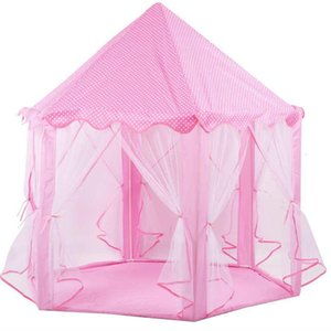 Children Play Tent Castle Hex Shape Indoor Outdoor Teepee Camping Tent Princess Playhouse Toy for Kids