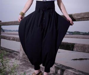 27-44 2021 мужская певица одежды, выполняющая панк большие промежности гарема брюки плюс размер в отчетный брюк