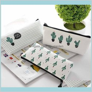 Cases Supplies Office Business Industrial Cactus Case Kawaii Canvas Zipper Stationery Estuches School Cute Pencil Box Pen Bags Pouch P