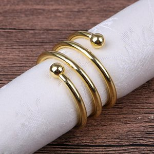 Metal Spring Napkin Rings For Table Kitchen Serviette Holder Wedding Banquet Dinner Christmas Decor Favor FWE5928