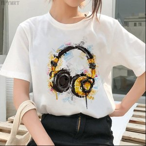 Women T Shirts Fashion music printing ladies Harajuku shirt summer thin short sleeved womens casual large size tops clothing